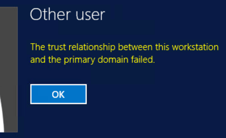 Windows Domain Trust Relationship Failed Error